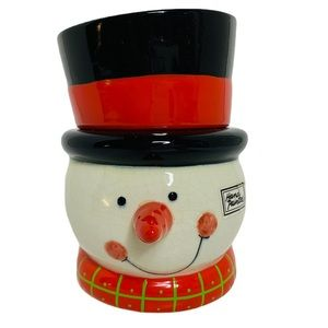 Department 56 Christmas Snowman Wax Filled Candle